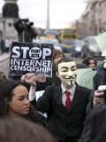 ACTA Protest on the streets of Dublin Stock Photography