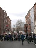 ACTA Protest on the streets of Dublin Stock Image