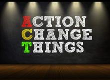 ACTE - Concept illustration libre de droits