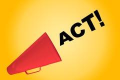 Acte ! - concept de motivation illustration libre de droits