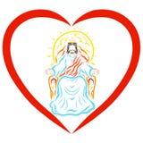 Acte de Lord Jesus au coeur, bénédiction du roi merveilleux illustration libre de droits