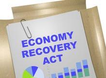 Acte de récupération d'économie - concept d'affaires illustration libre de droits