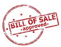 Acte de vente approuvé illustration stock