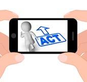 Acte et action d'urgence courante d'affichages de caractère illustration libre de droits