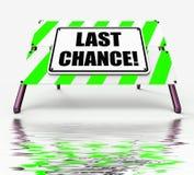 Acte final d'occasion d'affichages de signe de dernière occasion maintenant illustration stock