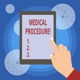 Acte médical d'écriture des textes d'écriture Concept signifiant une procédure utilisée par les praticiens médicaux ou dentaires illustration de vecteur