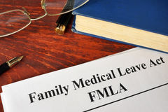 Acte médical de congé de famille de FMLA photos libres de droits