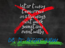 Acte maintenant Images libres de droits