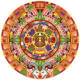 Actec Calendar. Vector of Aztec calendar on white background Royalty Free Stock Photo