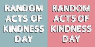 Actes aléatoires de jour de gentillesse illustration stock
