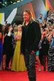 Acteur Brad Pitt bij de Filmfestival van Moskou Royalty-vrije Stock Foto's