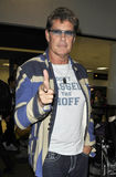 Acteur/chanteur David Hasselhoff à l'aéroport de LAX Images stock