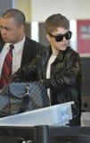 Acteur/chanteur Justin Bieber à l'aéroport de LAX Photo libre de droits