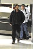Acteur Christian Bale avec la barbe à l'aéroport de LAX Images stock
