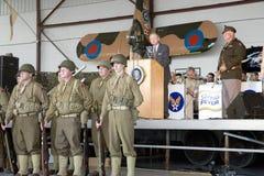 Acteur dépeignant le Président Franklin D. Roosevelt Photo libre de droits