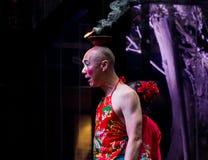 Acteur de clown d'opéra de Sichuan Image libre de droits