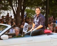 Acteur Dean Cain bij de jaarlijkse parade DragonCon Royalty-vrije Stock Afbeelding