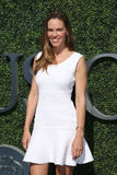 Acteur et producteur américains Hilary Swank au tapis rouge avant match final du ` s d'hommes de l'US Open 2016 photos stock