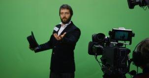 Acteur exécutant une scène intense photographie stock libre de droits