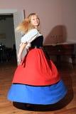 Acteur in historische kostuums Royalty-vrije Stock Fotografie
