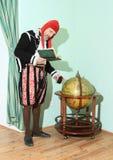 Acteur in historische kostuums Stock Afbeeldingen