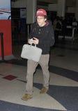 Acteur Jesse Eisenberg à l'aéroport de LAX, CA Etats-Unis Image libre de droits