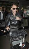 Acteur Jude Law à l'aéroport de LAX Photo libre de droits