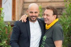Acteur Marco D'Amore et Tullio De Piscopo Photo libre de droits