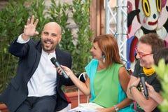 Acteur Marco D'Amore et Tullio De Piscopo Images libres de droits