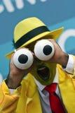 Acteur masculin dépeignant le caractère du masque Image libre de droits
