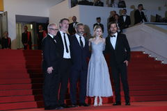 Acteur Mel Gibson, Diego Luna, Jean-Francois Richet, Erin Moriarty Royalty-vrije Stock Foto