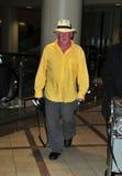 Acteur Nick Nolte à l'aéroport de LAX Image stock