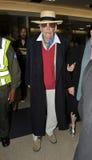 Acteur Peter o'Toole à l'aéroport de LAX Images libres de droits