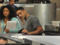 Acteur Will Smith à l'aéroport de LAX Images libres de droits