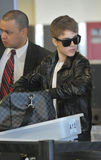Acteur/zanger Justin Bieber bij LOSSE luchthaven Royalty-vrije Stock Foto