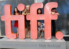 Acteurs au signe de tiff Image stock