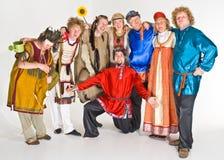 Acteurs colorés Image stock