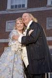 Acteurs de Ben Franklin et de Betsy Ross Image libre de droits