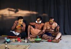 Acteurs de Kathakali images libres de droits