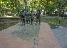 Acteurs de statue de parc d'Erevan images stock