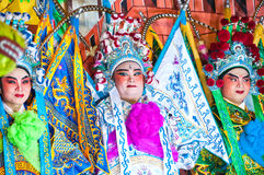 Acteurs non identifiés de l'opéra chinois Image libre de droits