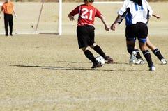 Actie 8 van het voetbal royalty-vrije stock afbeeldingen