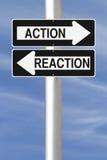 Actie en Reactie Royalty-vrije Stock Foto's