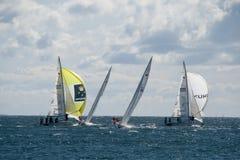 Actie op zee - het Rennen van de Gelijke van de Wereld Reis Stock Afbeelding
