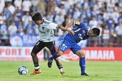 Actie in Thaise Eerste Liga Stock Foto's