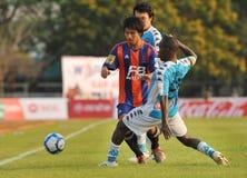 Actie in Thaise Eerste Liga Stock Afbeeldingen