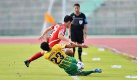 Actie in Thaise Eerste Liga Stock Afbeelding