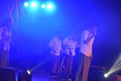Actieband Congrock 17 Semarang Royalty-vrije Stock Foto