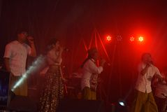 Actieband Congrock 17 Semarang Royalty-vrije Stock Fotografie