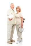 Actief bejaard paar Stock Foto's